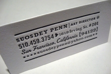 Business Card Of The Month: April 2010
