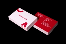 Red business card design inspiration card nerd latelier camelia reheart Images